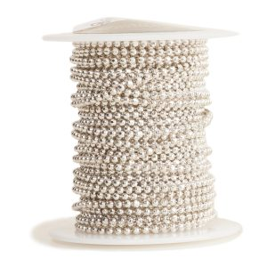 Faceted Bead ChainAntique Silver