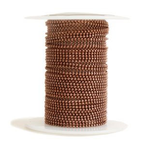 Faceted Bead Chain FineAntique Copper