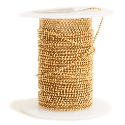 Faceted Bead Chain Fine<br>Antique Gold 1