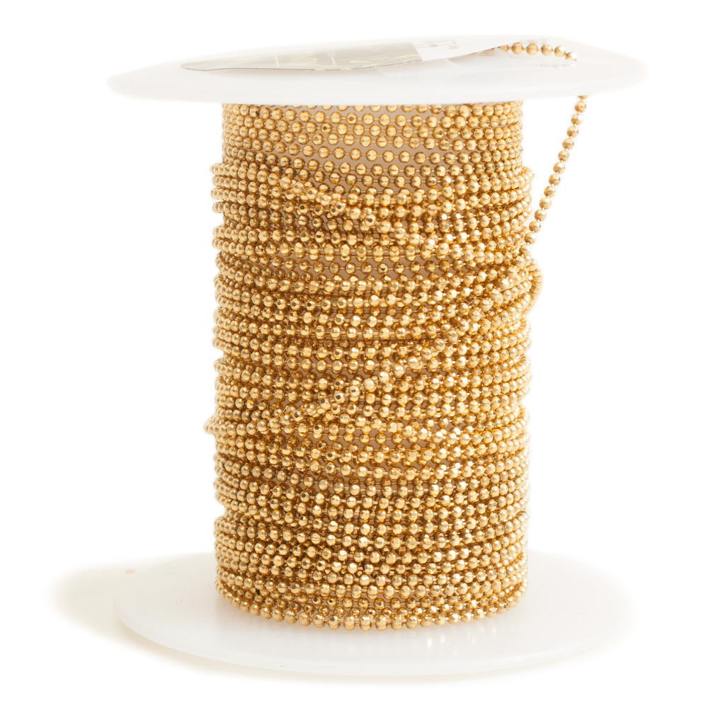 Faceted Bead Chain FineAntique Gold