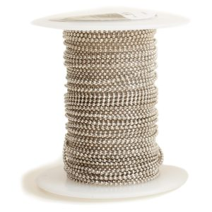 Faceted Bead Chain FineAntique Silver