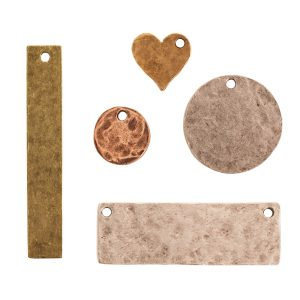 Hammered Flat Tags