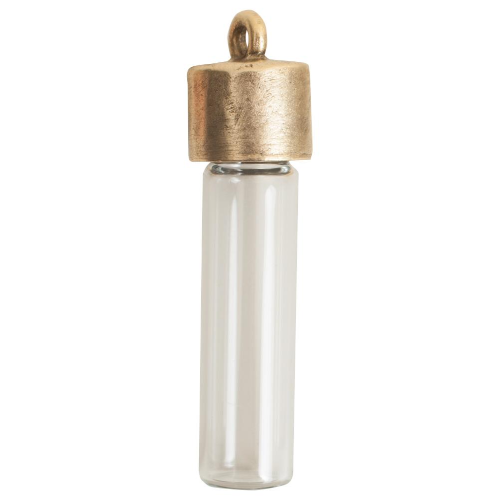 Itsy Bottle & Top PlainAntique Gold