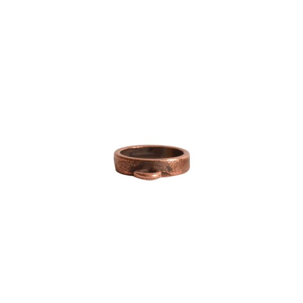 Itsy Link Single Loop CircleAntique Copper