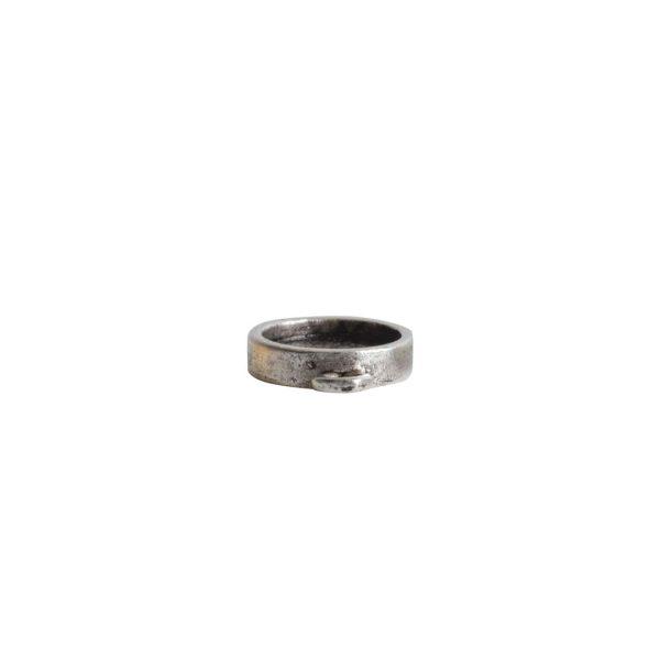 Itsy Link Single Loop CircleAntique Silver
