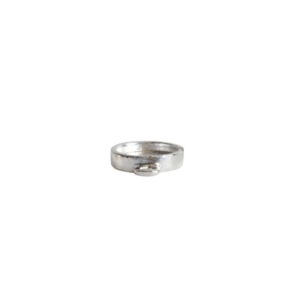 Itsy Link Single Loop CircleSterling Silver Plate