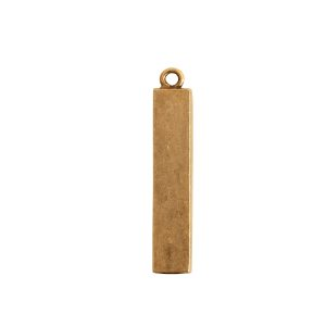 Itsy Link Single Loop RectangleAntique Gold