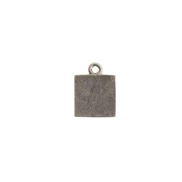 Itsy Link Single Loop SquareAntique Silver