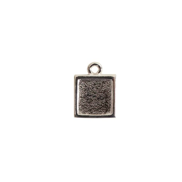 Itsy Link Single Loop SquareSterling Silver Plate