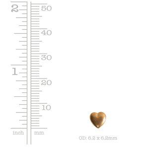 Brass Stamping Mini HeartBrass