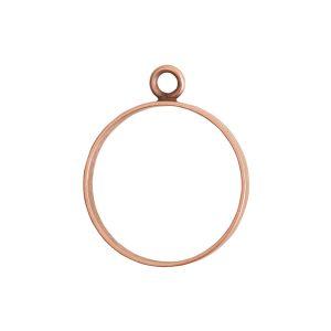 Open Frame Large Circle Single LoopAntique Copper