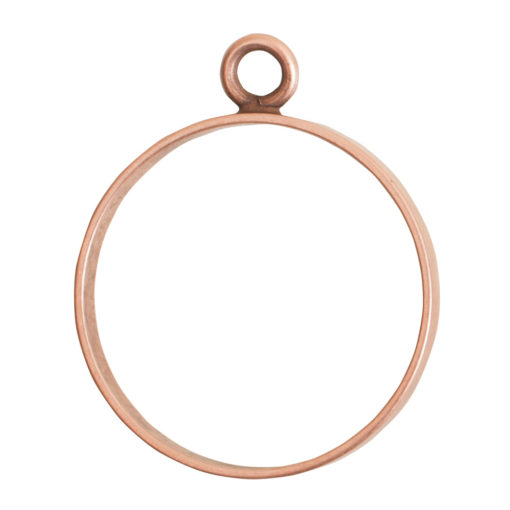 Open Frame Large Circle Single LoopAntique Copper