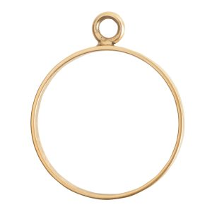 Open Frame Large Circle Single LoopAntique Gold