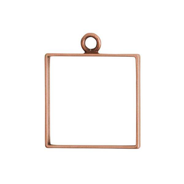 Open Frame Large Square Single LoopAntique Copper