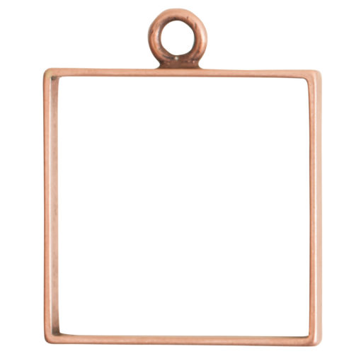 Open Frame Large Square Single LoopAntique Copper