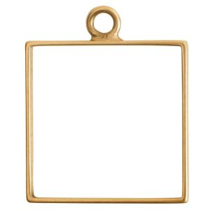 Open Frame Large Square Single LoopAntique Gold