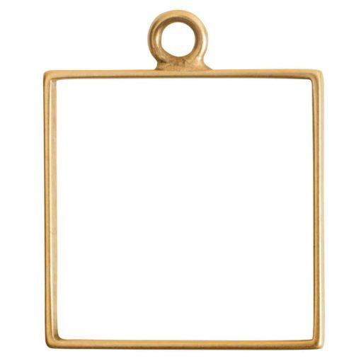 Open Frame Large Square Single LoopAntique Gold