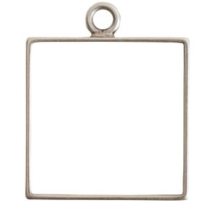 Open Frame Large Square Single LoopAntique Silver
