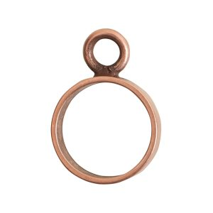 Open Frame Mini Circle Single LoopAntique Copper