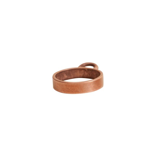 Open Frame Mini Circle Single LoopAntique Copper