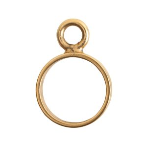 Open Frame Mini Circle Single LoopAntique Gold