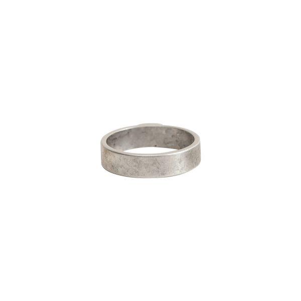 Open Frame Mini Circle Single LoopAntique Silver