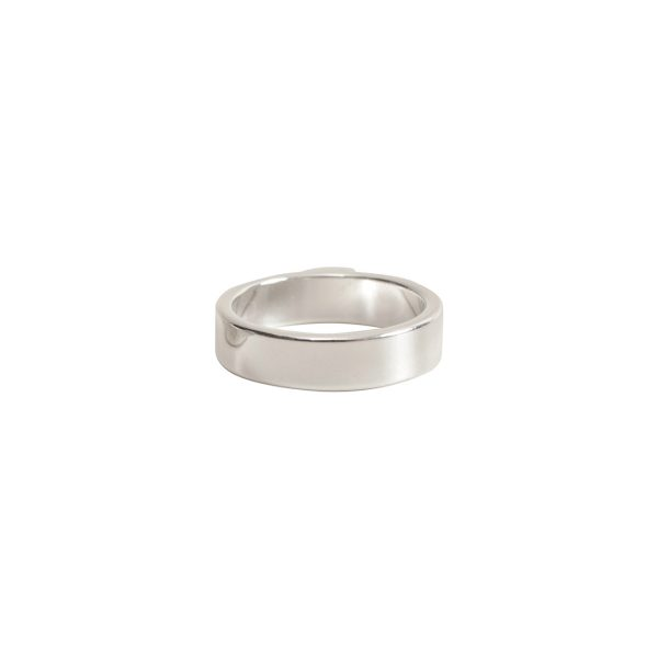 Open Frame Mini Circle Single LoopSterling Silver Plate