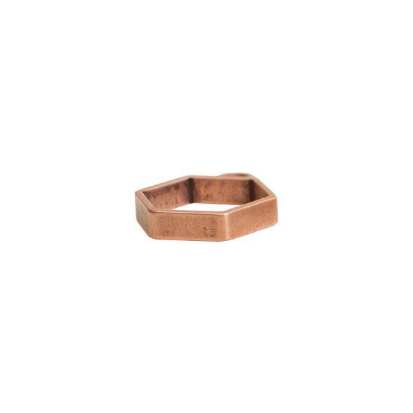 Open Frame Mini Hexagon Single LoopAntique Copper