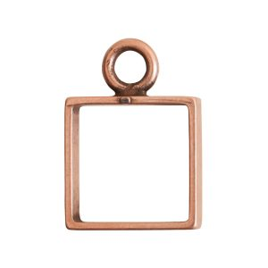 Open Frame Mini Square Single LoopAntique Copper