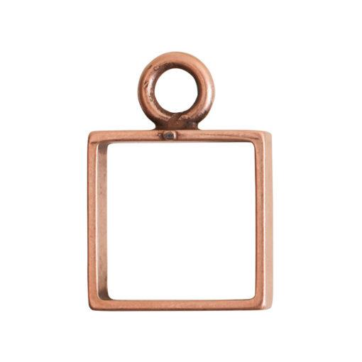 Open Frame Mini Square Single LoopAntique Copper