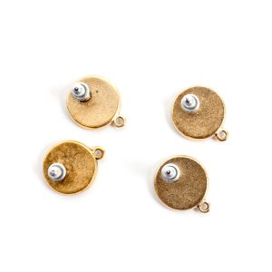 Buy & Try Findings Earring Mini CircleAntique Gold