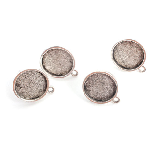 Buy & Try Findings Earring Mini CircleAntique Silver