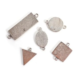 Buy & Try Findings Mini Links Double LoopAntique Silver