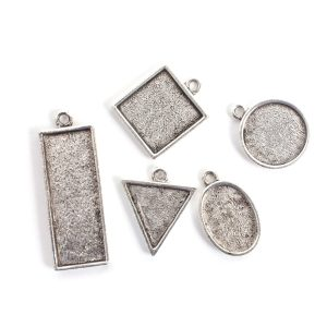 Buy & Try Findings Mini Links Single LoopAntique Silver