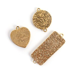 Buy & Try Findings Traditional PendantAntique Gold