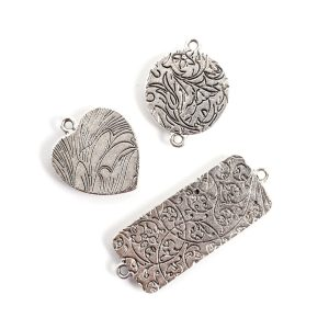 Buy & Try Findings Traditional PendantAntique Silver