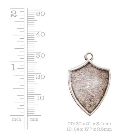 Crest Pendant Shield Antique Gold