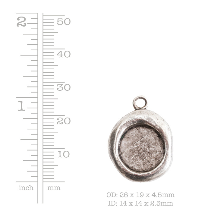 Crest Pendant Seal Antique Gold