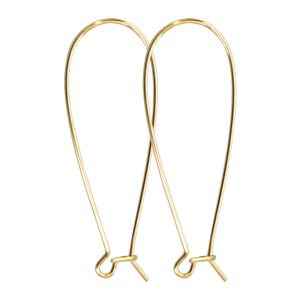 Kidney Earwire Antique Gold
