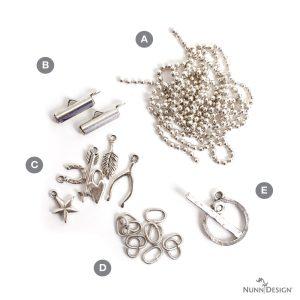 Lucky Charms Bracelet KitAntique Silver