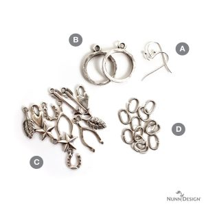 Lucky Charms Earring KitAntique Silver