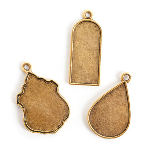 Buy & Try Findings Ornate Flat TagAnique Gold