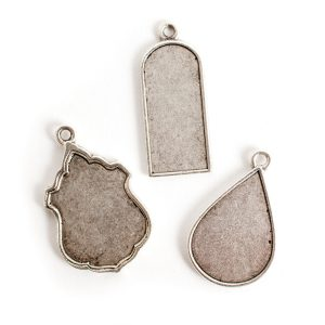 Buy & Try Findings Ornate Flat TagAnique Silver