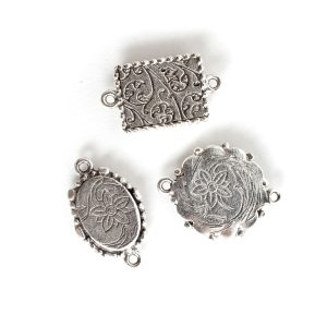 Buy & Try Findings Ornate Mini Pendant DblAnique Silver