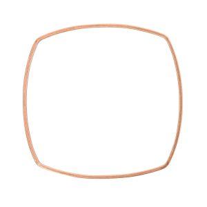 Bangle Bracelet Square Thin Antique Copper