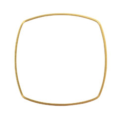 Bangle Bracelet Square ThinAntique Gold 1