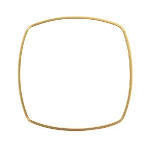 Bangle Bracelet Square ThinAntique Gold 1