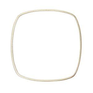 Bangle Bracelet Square ThinAntique Silver 1