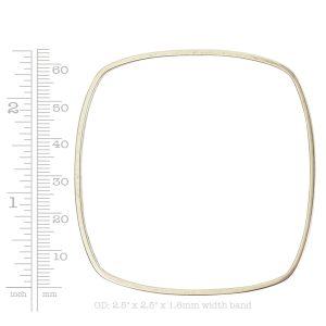 Bangle Bracelet Square Thin