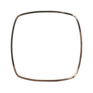Bangle Bracelet Square ThinSterling Silver Plate 1
